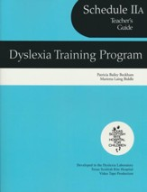 Dyslexia Training Program Schedule 2A, Teacher's Guide