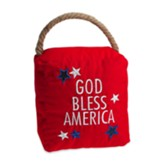 God Bless America Doorstop