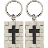 Cross in Square Key Ring
