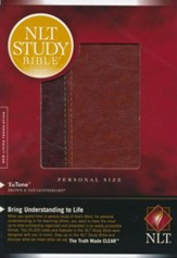 NLT Study Bible Personal Size TuTone Brown/Tan  Leatherlike, Indexed - Slightly Imperfect