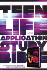 NLT Teen Life Application Study Bible, TuTone Black Tie-Dye Imitation Leather