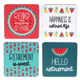 Hello Retirement Coaster Set, Set of 4