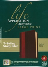 NLT Life Application Study Bible 2nd Edition, Large Print  TuTone Leatherlike Brown/Tan