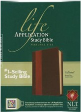 NLT Life Application Study Bible 2nd Edition, Personal Size  Leatherlike brown & tan