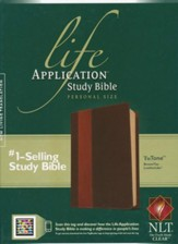 NLT Life Application Study Bible 2nd Edition, Personal Size  Leatherlike brown & tan indexed