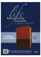 Life Application Study Bible 2nd Edition, KJV large print  brown & tan