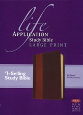 NKJV Life Application Study Bible 2nd Edition, Large Print,  Brown and Tan Imitation Leather