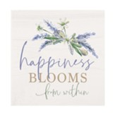 Happiness Blooms From Within Block Art