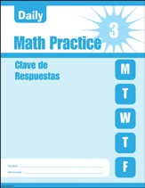 Daily Math Practice, Grade 3 Student  Workbook (Spanish Language Edition)