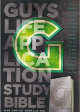 NLT Guys Life Application Study  Bible Leatherlike iridium