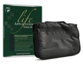 NLT Life Application Study Bible--bonded leather, black with Bible cover
