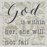 God is Within Her Wall Plaque