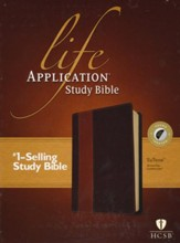 HCSB Life Application Study Bible TuTone leatherlike brown/tan indexed - Imperfectly Imprinted Bibles