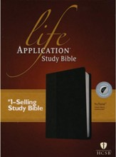 HCSB Life Application Study Bible TuTone leatherlike black indexed