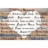 ABCs of Marriage Wall Plaque