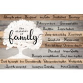 The Alphabet of Family Wall Plaque