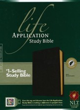 NLT Life Application Study Bible 2nd Edition, Black Bonded  Thumb-Indexed