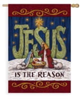 Jesus is the Reason Flag, Large