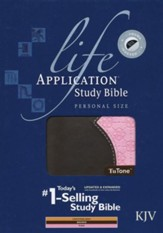 KJV Life Application Study Bible 2nd Edition, Personal Size  TuTone, Pink/Brown LeatherLike