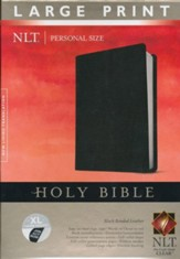NLT Personal Size Large Print Bible, Black Bonded Leather Indexed - Slightly Imperfect