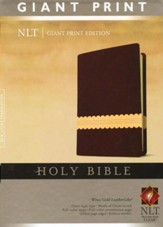 NLT Holy Bible, Giant Print, Wine/Gold Indexed Leatherlike - Imperfectly Imprinted Bibles