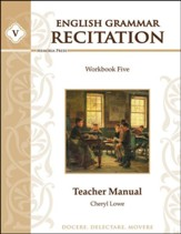 English Grammar Recitation Workbook Five Teacher Manual
