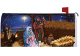 Mary and Joseph, Manger, Mailbox Cover