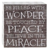 Be Filled with Wonder Box Wall Sign