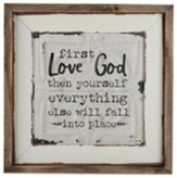 First Love God Then Yourself Box Sign
