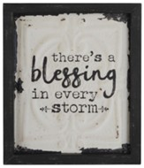 There's A Blessing in Every Storm Box Sign