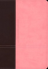 KJV Life Application Study Bible 2nd Edition, TuTone Dark  Brown/Pink Leatherlike - Imperfectly Imprinted Bibles