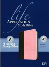 KJV Life Application Study Bible 2nd Edition, TuTone Dark  Brown/Pink Indexed Leatherlike