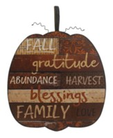 Fall, Gratitude, Pumpkin Plaque