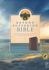 NLT Beyond Suffering Bible, TuTone Brown/Tan Indexed Leatherlike - Slightly Imperfect