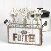 Faith Friends Family Basket with 3 Tall Bottles
