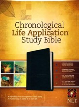 NLT Chronological Life Application  Study Bible, soft imitation leather, black/onyx