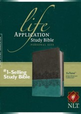 NLT Life Application Study Bible 2nd Edition, Personal Size  TuTone Imitation Leather, juniper/gray lace