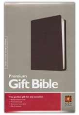 NLT Premium Gift Bible Imitation Leather, black