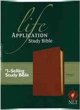 NLT Life Application Study Bible 2nd Edition, soft imitation  leather, midtown brown - Slightly Imperfect