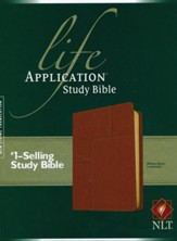 NLT Life Application Study Bible 2nd  Edition, soft imitation  leather, midtown brown with thumb index