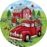 God Bless America, Truck and Barn, Magnet