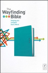 NLT Wayfinding Bible, leatherlike teal