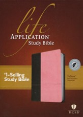 Life Application Study Bible HCSB, Tutone Dark Brown/ Pink - Slightly Imperfect