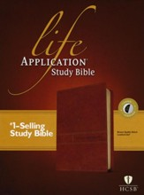 Life Application Study Bible 2nd Edition, HCSB, Red Letter  Indexed  (Brown) - Slightly Imperfect