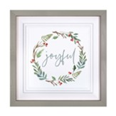 Joyful, Wreath, Framed Art