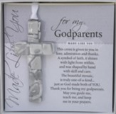 For My Godparents Mosaic Cross Ornament