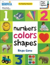Numbers, Colors and Shapes Bingo