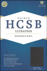 HCSB UltraThin Reference Bible, Bonded Leather, Thumb-Indexed