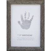 1st Birthday, Handprint Framed Art