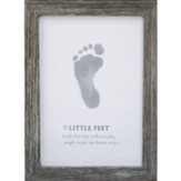 Little Feet, Footprint Framed Art